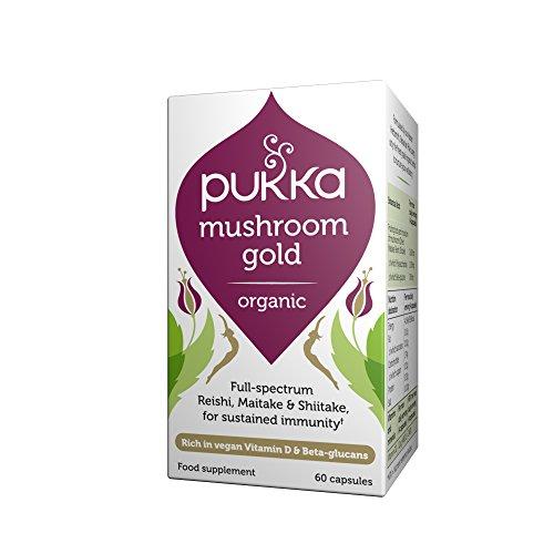 Foto de Pukka Herbs Seasonal - Mushroom Gold (Maitake, Reishi & Shiitake) 60 Caps