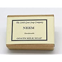 1 x NEEM Leche de cabra jabón 100 g. Eczema, Psoriasis, Dermatitis.