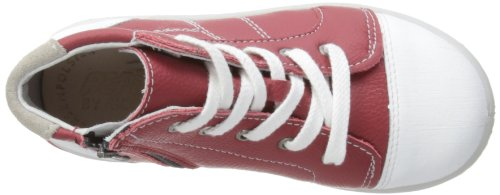Ricosta Noppy(w), chaussures premiers pas mixte bébé Rouge - Roano Red/White