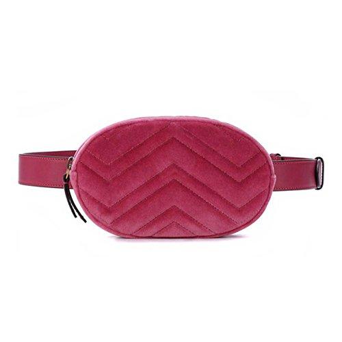 FXTKU 2018 Damen Geldbörse Mini Handy Tasche Stern mit dem gleichen Absatz samt Brustbeutel samt ovalen Taschen umhängetasche damen klein handtasche (Rosa 2)