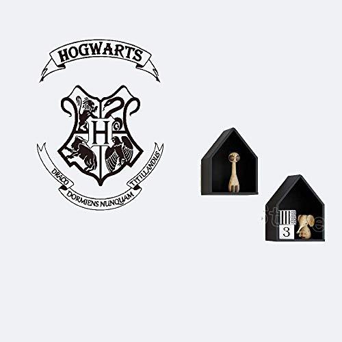 wandaufkleber baum eule wandaufkleber sterne Wall Decal Quote Hogwarts Crest For Boys Girls Room - Laptop Baum Decal