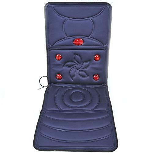 REMUSTELY Bright Massagekissen mit Heiz- und Vibrationsfunktion, kann Muskeln entspannen, für Heim und Büro verwenden (blau, rot) (Farbe : Blau)