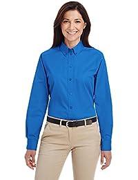 Ladies' Foundation 100% Cotton Long-Sleeve Twill Shirt with TeflonÖ