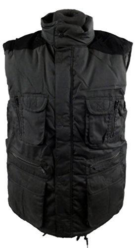 10pour homme doublé poche Manteau rembourré sans manches pour femme sans manches pour homme corps Country chasse Noir - Noir