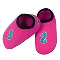 Imse Vimse Soft Neoprene Bathing Shoes Baby Bath Flip-Flops Pink Size 24-25 (18 - 24 Months)