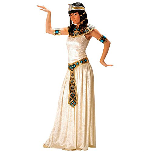 Cleopatra Kostüm Ägypterin Damenkostüm Samt L (42/44) Kleopatra Gewand Fasching Toga Ägypten Pharao Königin Faschingskostüm Ägyptische Göttin Kleid Karnevalskostüm Antike Mottoparty Verkleidung