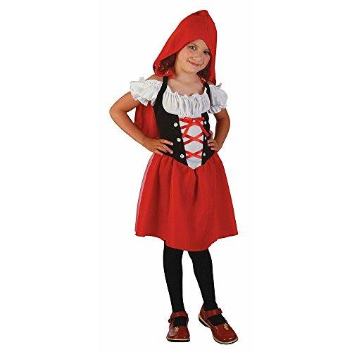 P'TIT CLOWN 81273 Déguisement Enfant Chaperon - M - Rouge