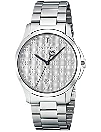 Gucci Mens Analogue Classic Quartz Watch with Stainless Steel Strap YA1264024