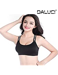 DALUCI Fashion New Women s Yoga Stretch Workout Seamless Padded Sports Bra a21d5d6b068