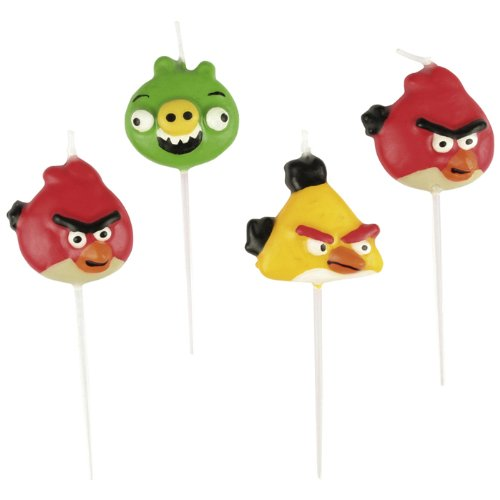 Riethmuller - Mini Candeline Angry Birds 4pz