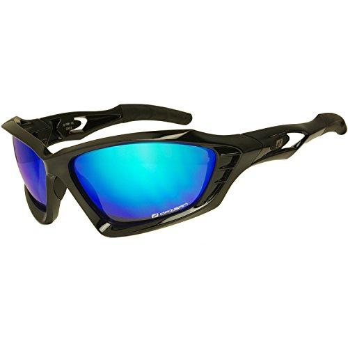 Daisan Elite blau verspiegelte Sportbrille Sonnenbrille