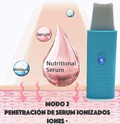 Peeling Ultrasónico Facial Skin Scrubber Exfoliación Facial Ultrasónica Limpiador de Poros para Limpieza Facial y…
