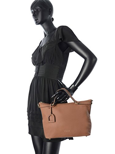 Cabas Tradition Cuir femme noir Beige