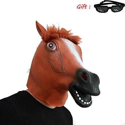 Nightghost BoJack Horseman Mask, Pferdehelm, Kostüm spielt Helm, Weihnachten Halloween, Perücke Film und Fernsehen Arbeiten Make-up Requisiten