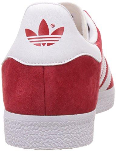 adidas Gazelle, Baskets Basses Homme Rouge (Scarlet/ftwr White/gold Met.)