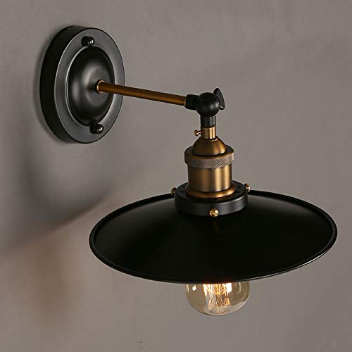 QINCH Home Land Retro industriellen Stil Edison Wandlampe kleine Schwarze Kleid Schmiedeeisen Schlafzimmer Restaurant Bar Gang Balkon Lichter