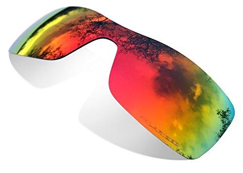 sunglasses restorer Kompatibel Ersatzgläser für Oakley Batwolf, Polarisierte Ruby Red (Batwolf Sonnenbrille Oakley)