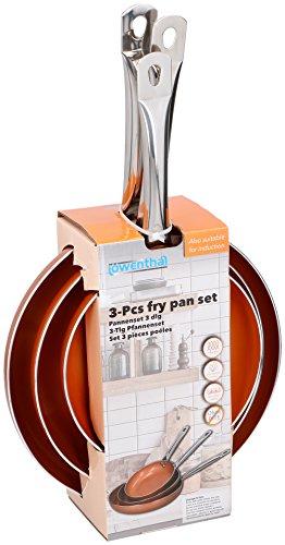 Löwenthal Juego de 3sartenes cerámicas con Revestimiento Antiadherente sartenes para Todos los Tipos de Cocina/Inducción, Antiadherente, Revestimiento | Inducción | Ø20cm, ø24cm, ø28cm