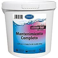 Tamar - Cloro Mantenimiento Completo Especial Piscinas de Poliester / Liner, Cubo de 5 Kilos.