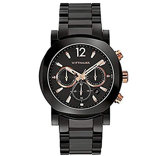 Wittnauer WN3011 Men's Adien Black Dial Black Ceramic Bracelet Chronograph...