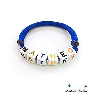 Bracelet avec prénom MATHEO (réversible, personnalisable) homme, femme, enfant, bébé, nouveau-né.