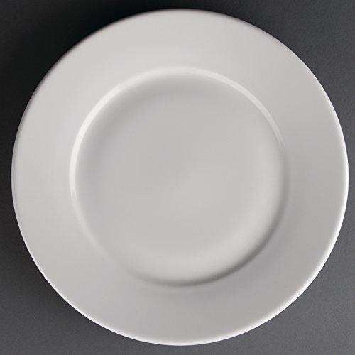 Athena Création Assiette à bord large-Plat à servir de table à manger Dishware nourriture maison Restaurant de cuisine et de table Cafe Buffet 254 mm (diamètre): 254 mm (10 \\