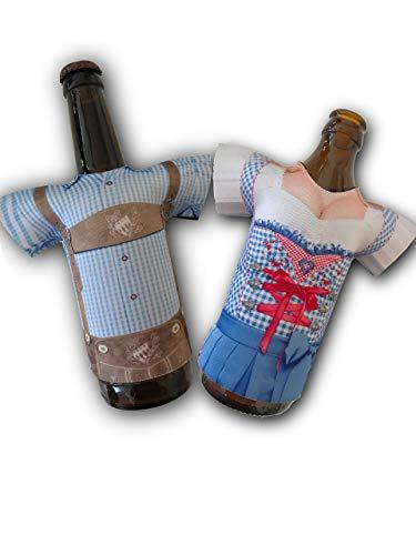 Madl & Buam Bierflaschen Kühler, Bierkühler für 0,3l und 0,5l Flaschen aus Neopren, Party- und Biergadget im Duopack -