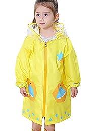 Vividda Chubasquero infantil resistente al agua lluvia poncho chubasquero  impermeable para niñas y niños unisex 3 ae6ec5e7793