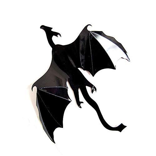 JXAA Halloween drachen Lot Gothic Tapete Aufkleber Game Power inSpired 3D Drachen Für Schlafzimmer Dekoration papel de parede 13 cm x 18 cm