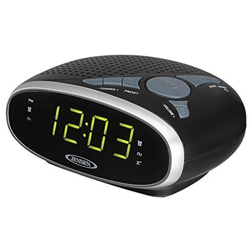 Jensen JCR175am/fm Alarm Uhr Radio Mit Fugeneisen grün LED Display Jensen Ipod Clock Radio