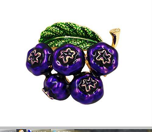 Cranberry Brosche Pins für Frauen Blaubeer Hochzeit Party Zubehör -