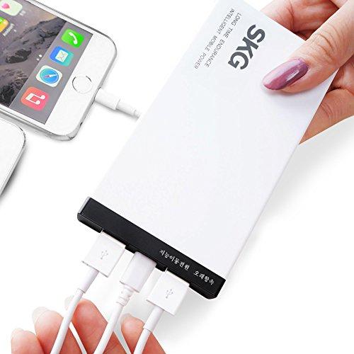 Pack Ipad Juice (SKG value-pack Dual USB Power Bank–8000mAh/10000mAh iPhone Tragbares Ladegerät, externer Akku Ladegerät für iPhone–Handy Akku Ladegerät–universal Power Bank–wiederaufladbarer Power Pack–Handy Ladegeräte an der Go–Handy Juice Pack–Backup Ladegerät für iPhone 6/6PLUS/5S, iPad Air 2/Mini 3, Samsung Galaxy S6/S6Edge, Nexus, HTC, Motorola, Nokia, Android, Apple und mehr Smartphones & Tablets (weiß, 1-month Kostenlose Testversion, 2Jahre Garantie, Geschenk-Set,))