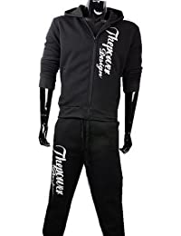 Herren Jogginganzug Sporthose Jacke Jogginghose Trainingshose Jogging anzug Sportanzug Trainingsanzug Hoodie Fitness-Hose Jacke Kapuze