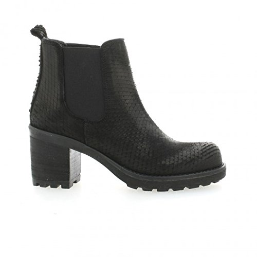 Pao Boots cuir python noir Noir
