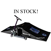 NEW large 3 piece BMX scooter skateboard double skate trick ramp & bridge. Stunt jump