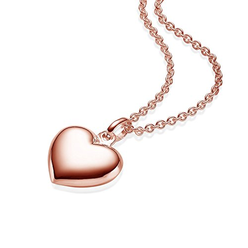40c64528beaa Herzkette Rosegold Kette Damen  Silber 925 hochwertig Vergoldet  +GRATIS  Etui mit Gravur Echt