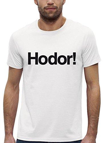 Serien Premium Herren T-Shirt aus Bio Baumwolle HODOR! Marke Stanley Stella White
