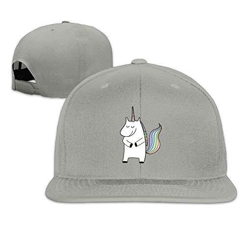 Cutakuzvmru Snapbacks Shy Little Unicorn Flat Bill Visor Hat Sports Baseball Caps