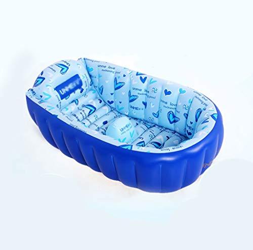 BBYP-YJ Badewanne tragbar Aufblasbare Babybadewanne Portable Mini Air Pool Infant Dickes faltbares Duschbecken mit Soft Kissen zentralen Sitz (Farbe : A)