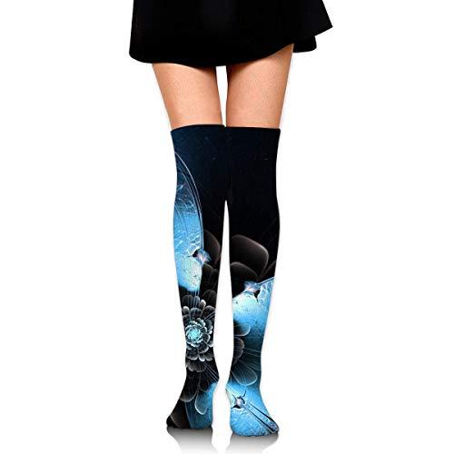 Jxrodekz Women Crew Socken Thigh High Knee Butterfly Sparkle Long Tube Dress Legging Athletic Compression Stocking