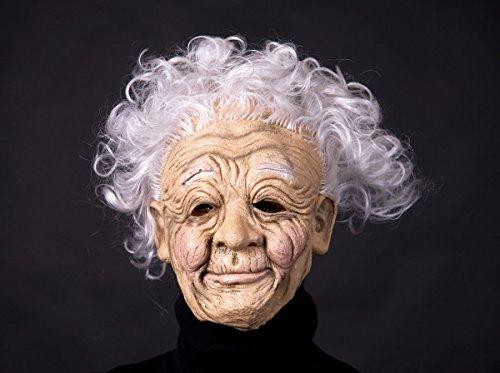 Erfurth Fun Mask Oma in Pbh, Mehrfarbig, Einheitsgröße (Maske Frau Alte)