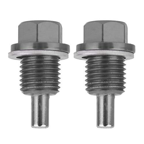 perfk 2 Pcs. Magnetische Ölablassschraube für Honda Ford Jeep Mazda usw, M14x1,5mm (Honda ölablassschraube)