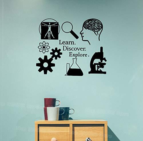 Lernen Entdecken Entdecken Wandaufkleber Wissenschaft Aufkleber Lernen Ich Liebe Wissenschaft Klassenzimmer Dekor Wissenschaftler Decals Für Lehrer 51X42 cm