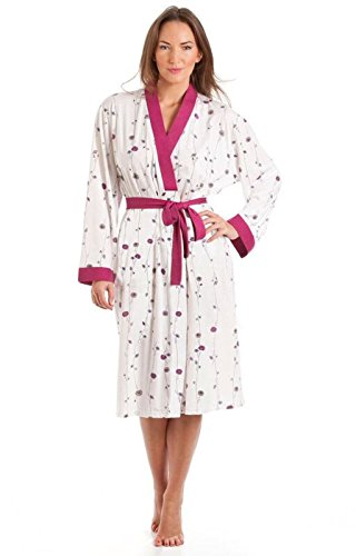 Ladies Polycotton dressing gown Size UK 10 to 24 long sleeve bath robe wrap tie belt - 41soGoPNCpL - Ladies Polycotton dressing gown Size UK 10 to 24 long sleeve bath robe wrap tie belt