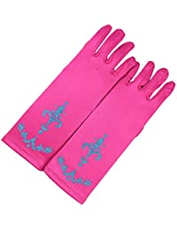 lifenewbaby Queen Princess Princess – Guante de Magic Party Prom satén guantes de vestido para disfraz de Match para niñas 3 – 5 años de regalo de cumpleaños/Navidad/8 – 10 años
