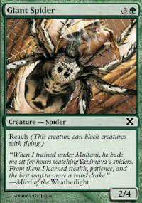 Magic the Gathering - Giant Spider - Ragno Gigante - 10th Edition - Spider Giant