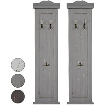Garderobe Tür Spiegel weiß antik Landhaus Holz