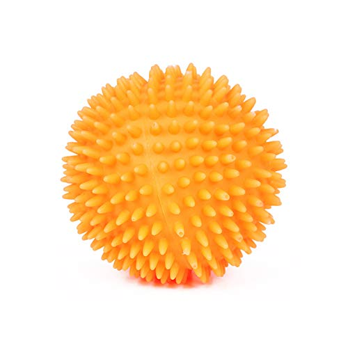 Aubess Quietschball für Hunde, Kauspielzeug mit Noppen aus Gummi für kleine, mittelgroße und große Hunde, 1 Stück, 7,5 cm/9,5 cm