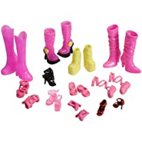11 Pair Of Barbie Doll High Heel Boot Ankle Strap Shoes Sandal Accesories