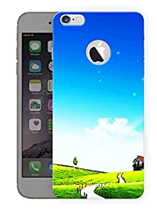 "Ulta Anda Road To Nowhere Printed Designer Mobile Back Cover For ""Apple Iphone 6 Plus-6S Plus Logo Cut"" (3D, Matte Finish, Premium Quality, Protective Snap On Slim Hard Phone Case, Multi Color)"